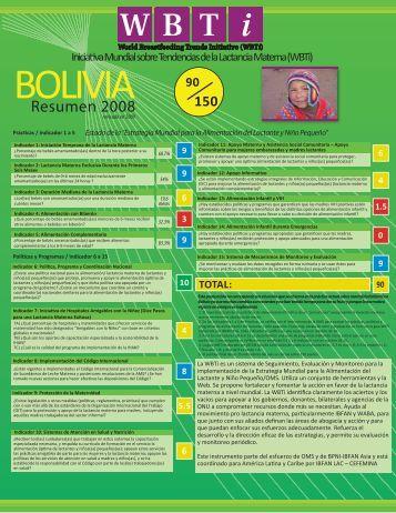 Tabla Bolivia Tiro - World Breastfeeding Trends Initiative