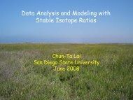 Data Analysis and Modeling with Stable Isotope Ratios