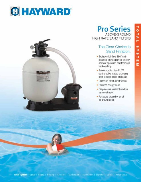Pro Series High Rate Sand Filters Litproabg11 Hayward