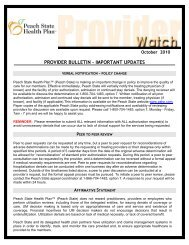New Specialty Pharmacy: Acaria – Provider Notice - Peach State