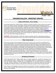New Specialty Pharmacy: Acaria – Provider Notice - Peach