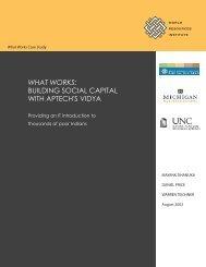 What Works Case Study--Aptech's Vidya - World Resources Institute
