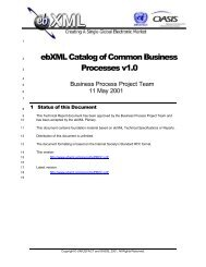 ebXML Catalog of Common Business Processes v1.0