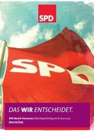 DAS WIR ENTSCHEIDET. - SPD-Bezirk Hannover