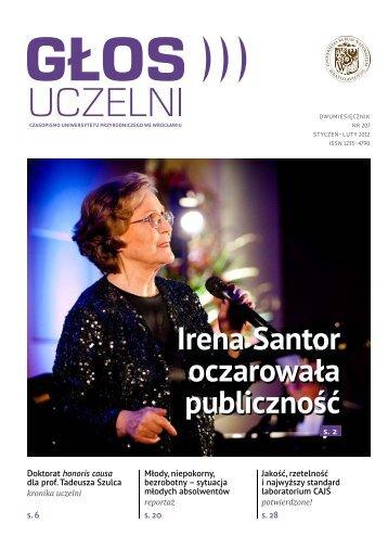 """""""Głos uczelni"""" nr 207 - Uniwersytet Przyrodniczy we Wrocławiu"""