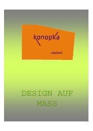 Newsletter Frühling/Sommer 2007 - Konopka Couture Shock