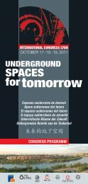 underground spaces for tomorrow october 17-18-19, 2011 - AFTES