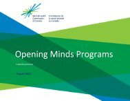 Opening Minds Programs - Mental Health Commission of Canada