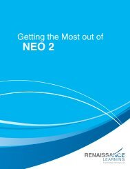 Getting the Most out of NEO 2 - Renaissance Learning