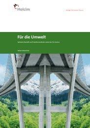 Für die Umwelt (PDF-Datei, 1.15 MB) - Holcim Schweiz