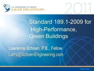 An Update on Commercial and Residential ... - Solar Decathlon