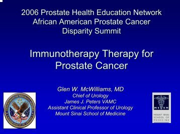Immunotherapy Therapy for Prostate Cancer - Prostate Health ...