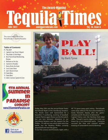 June 2012 Newsletter PDF - Parrot Heads in Amish Paradise