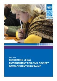 reforming legal environment for civil society ... - UNDP in Ukraine