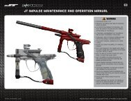 JT Impulse maintenance and operation manual - Paintball Solutions