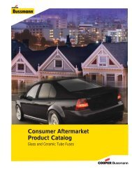 Consumer Aftermarket Product Catalog - Cooper Industries