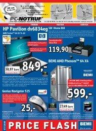 BEMI Computer Marketing GmbH - Price Flash 07/2008 - PC-Notruf