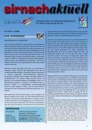 ZUM JAHRESENDE IMPRESSUM - Gemeinde Sirnach