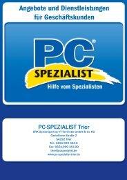 Angebote und Dienstleistungen für ... - PC-Spezialist Trier