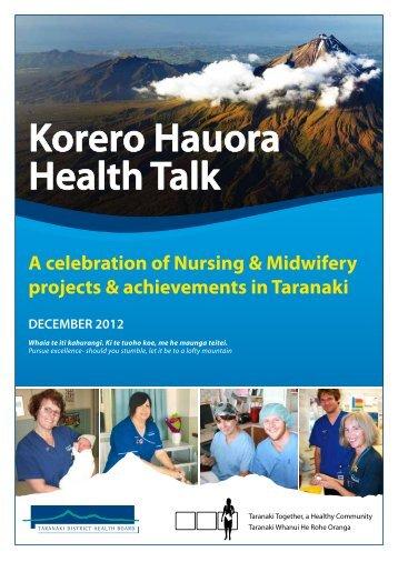 Korero Hauora Health Talk - Taranaki District Health Board