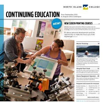 Continuing eduCation - North Island College