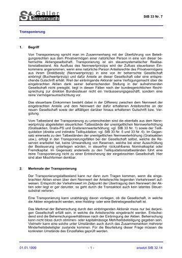 Druckversion PDF - Steuern St. Gallen - Kanton St.Gallen