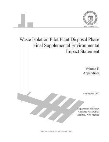 Tables A-5 - Waste Isolation Pilot Plant - U.S. Department of Energy