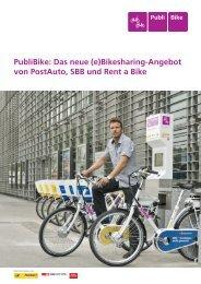 Das neue (e)Bikesharing-Angebot von PostAuto, SBB und Rent a Bike
