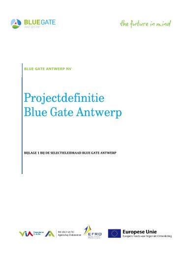 Projectdefinitie Blue Gate Antwerp - Waterwegen en Zeekanaal