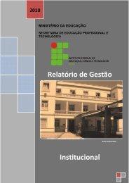 Relatório de Gestão 2010 - IFBA