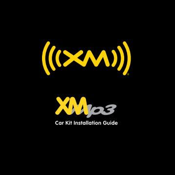 xm radio hookup