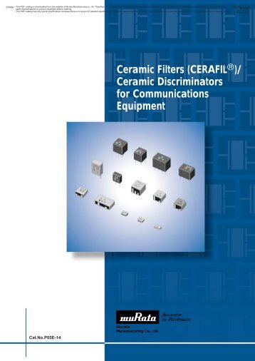 Ceramic Discriminators for Communications Equipment