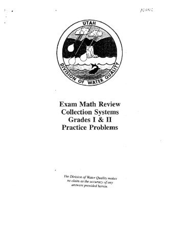 Exam Math Review Collection Systems Grades I & II Practice Problems