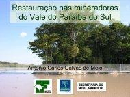 Restauração nas mineradoras do Vale do Paraíba do Sul - SIGAM