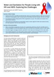 Water and sanitation for people living with HIV and AIDS ... - WaterAid
