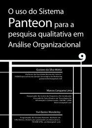 O uso do sistema Panteon para a pesquisa ... - Faculdade Social