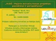 """""""VLDŽ / Pajūrio dviračių trasos projektas: pasiekimai ir ... - Baltic Cycle."""