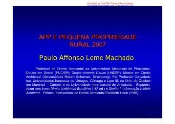 APP e pequena propriedade rural 2007 - SIGAM