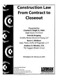 Key Contract Provisions - Stradley Ronon Stevens & Young, LLP