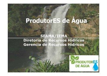 ProdutorES de Água - SIGAM