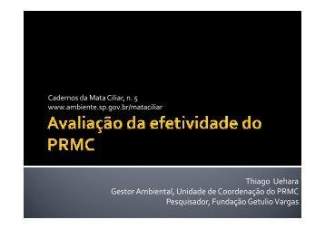 Avaliação de efetividade do PRMC - SIGAM