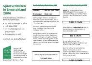 Sportverhalten in Deutschland 2006 - SOKO Institut