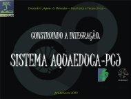 construindo a integração: sistema aquaeduca-pcj - SIGAM