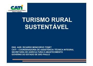 turismo rural sustentável - SIGAM - Governo do Estado de São Paulo
