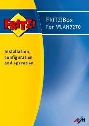 FRITZ!Box Fon WLAN 7270 - Sipgate.de