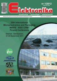 Elektronika 2012-01 I.pdf - Instytut Systemów Elektronicznych ...