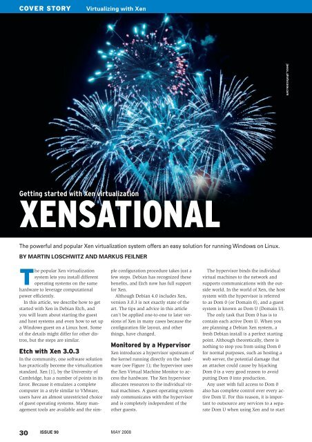 Getting started with Xen virtualization - Linux Magazine