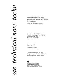 Human Factors Evaluation of Vocoders for Air Traffic Control ... - FAA