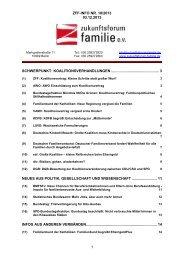 ZFF-INFO NR. 18/2013 03.12.2013 1 SCHWERPUNKT ...