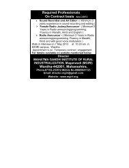 Advt. 03/2013-14 Details - Mahatma Gandhi Institute for Rural ...